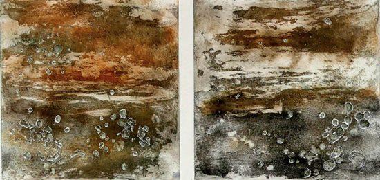 Mémoires fortes 2 eau forte à l'aquatinte et Résiquid sur cuivre, 40x50cmsite