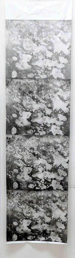 Minéral Big 1, eau forte sur cuivre, 180x45cm, 2020site