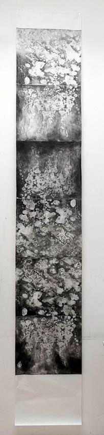 Minéral Big 2, eau forte sur cuivre, 240x45cm, 2020site