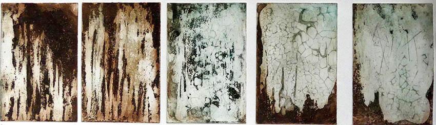 Paysage suspendu_mondes imaginaires_ Gravure sur cuivre eau forte à l'aquatinte. 5 plaques10x15cm.2018 site