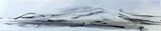 glace aquarelle et encre de chine,60x15cm 2018, site