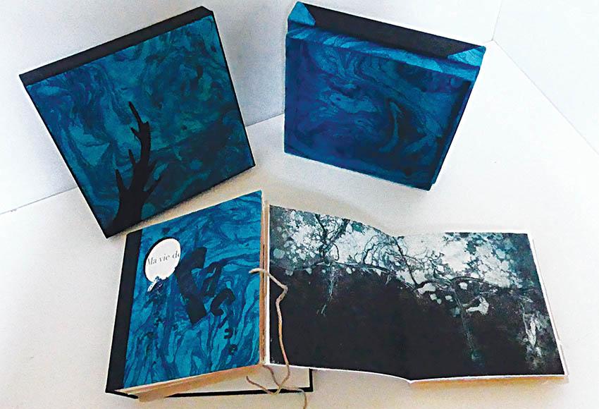 livre «Ma vie de Racine», 2020 Eaux fortes, linogravures, typographies site