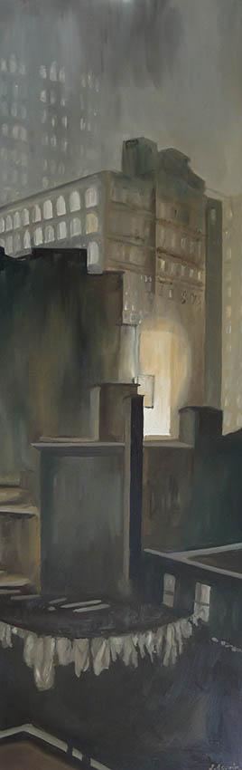 Le New York de Stieglitz 4 Huile sur toile 150x50cmsite