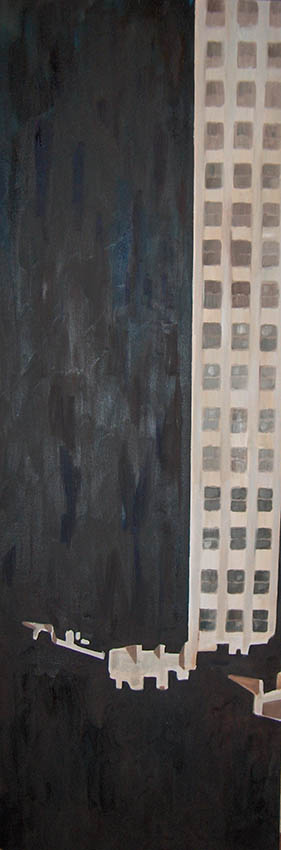 le New York de Stieglitz1 huile sur toile 150x50cmsite