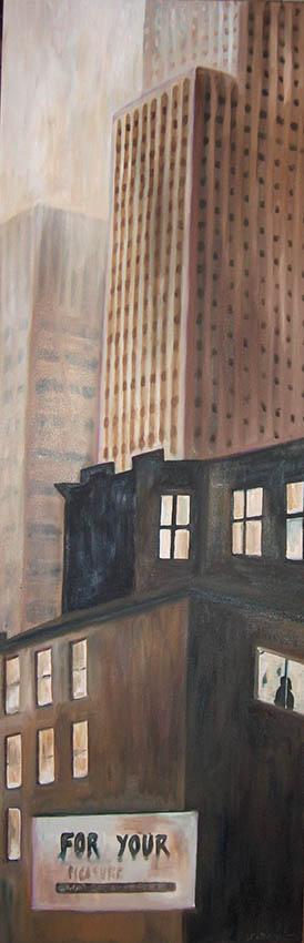 le New York de Stieglitz2 huile sur toile 150x50cmsite